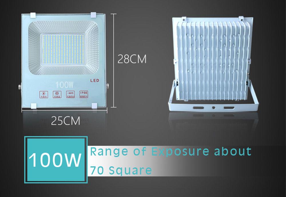 Kons-Led Smd Flood Light White Color 50w100w200w 150° Beam Ip66 Waterproof-2