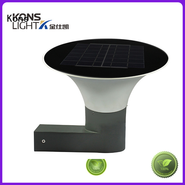 white led outdoor solar wall light waterproof Kons Brand