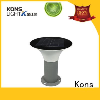 led switch solar lawn light aluminium Kons Brand company