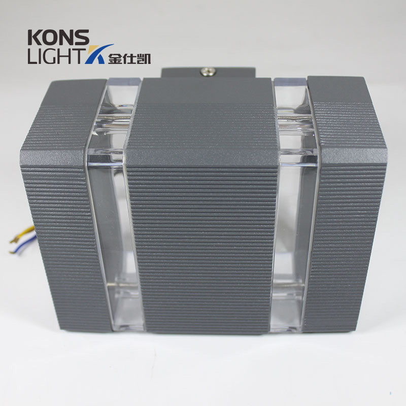 6W bothway LED Wall Light COB LED Chip Aluminum & Tempered Glass