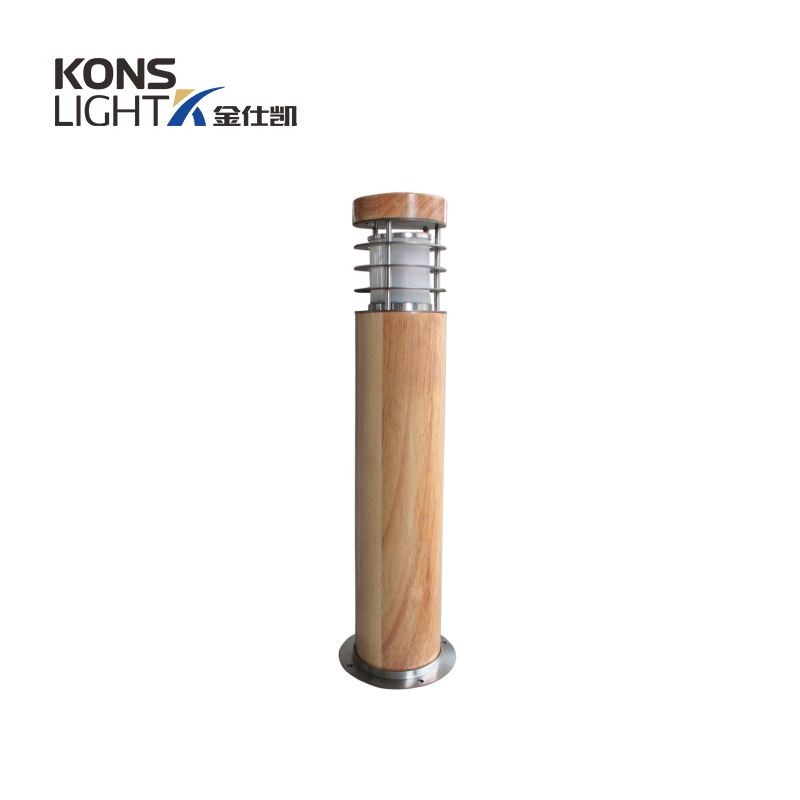 10W LED Wood housing Lawn Light 120° Beam 250mm-800mm