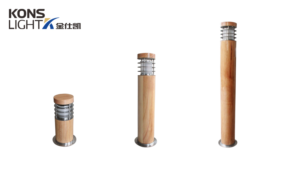 waterproof wood garden post lights Kons Brand