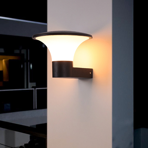 pc chip tempered led outside wall lights Kons