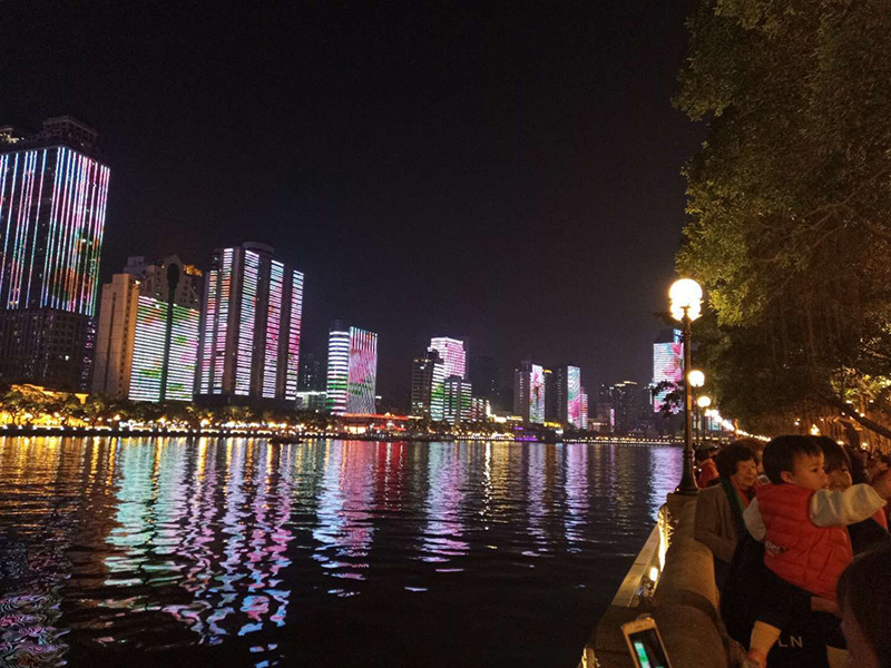 Guangzhou the Pearl River 'Both Sides of a River' Lighting Projects Scene