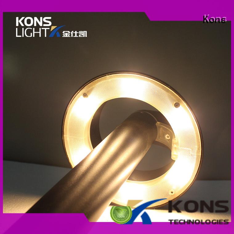 wood beam housing garden post lights Kons manufacture