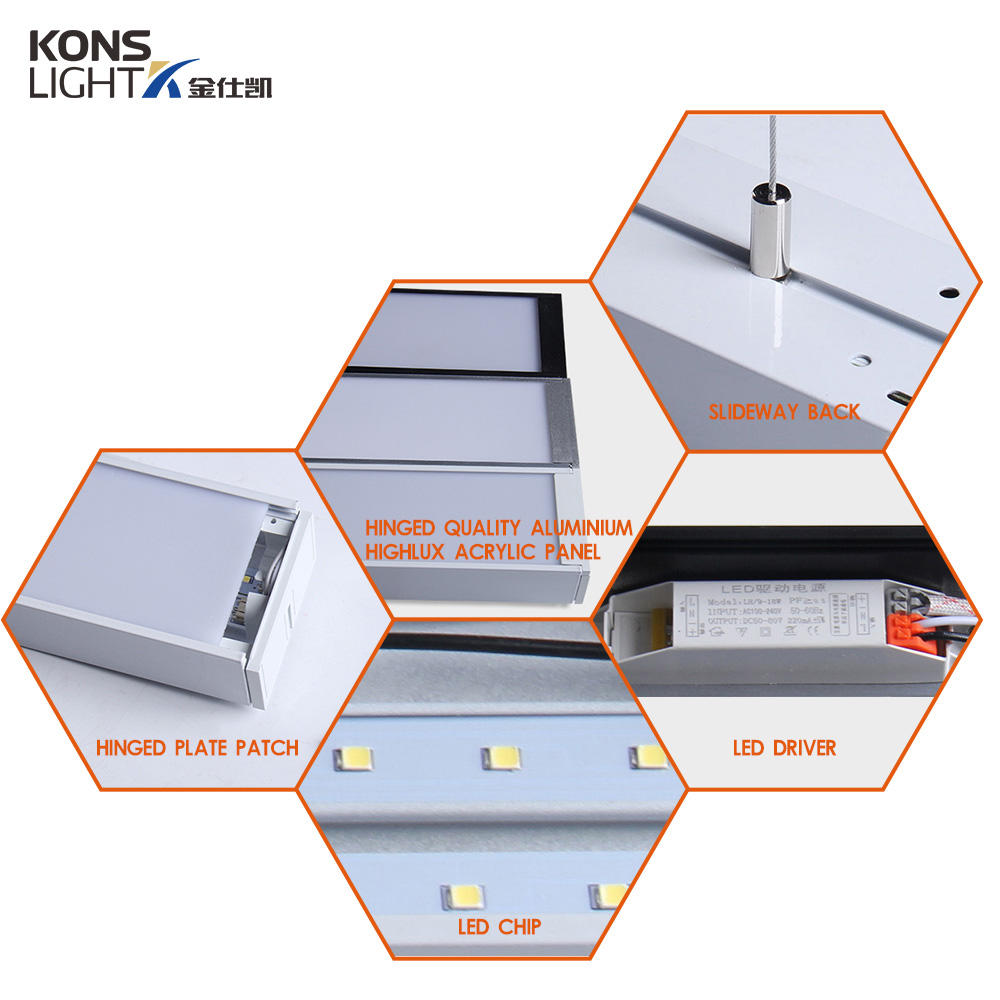 Kons-9-72w Led Pendant Panel Light 3000k-6000k Modern Concise Style | Led Pendant-2