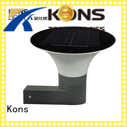 white outdoor bright solar lights Kons manufacture