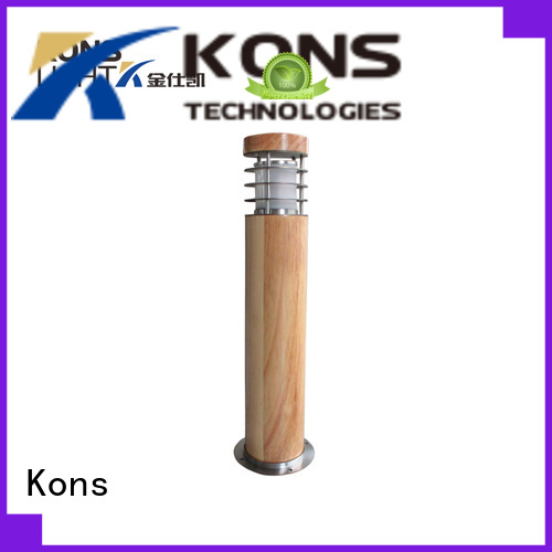 garden post lights waterproof led wood Kons Brand company