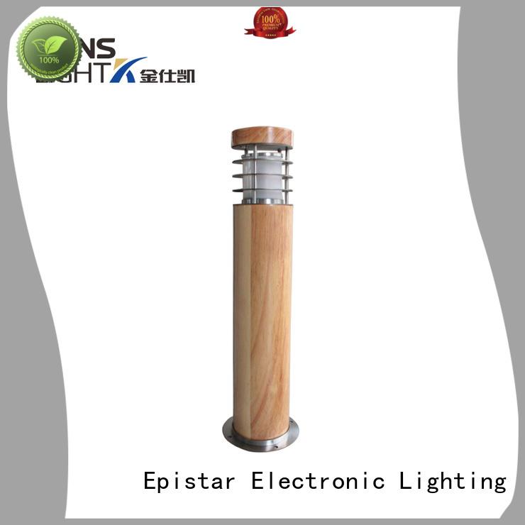waterproof wood garden post lights Kons Brand