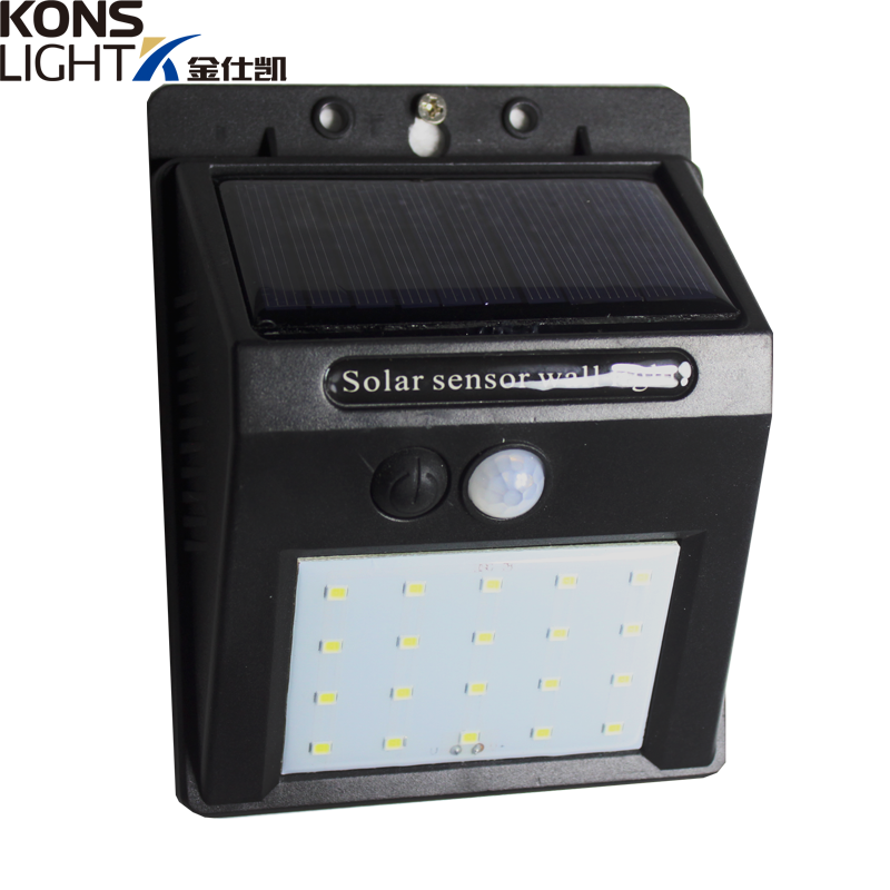 LED Solar Wall Light IP65 Waterproof Outdoor ABS Material
