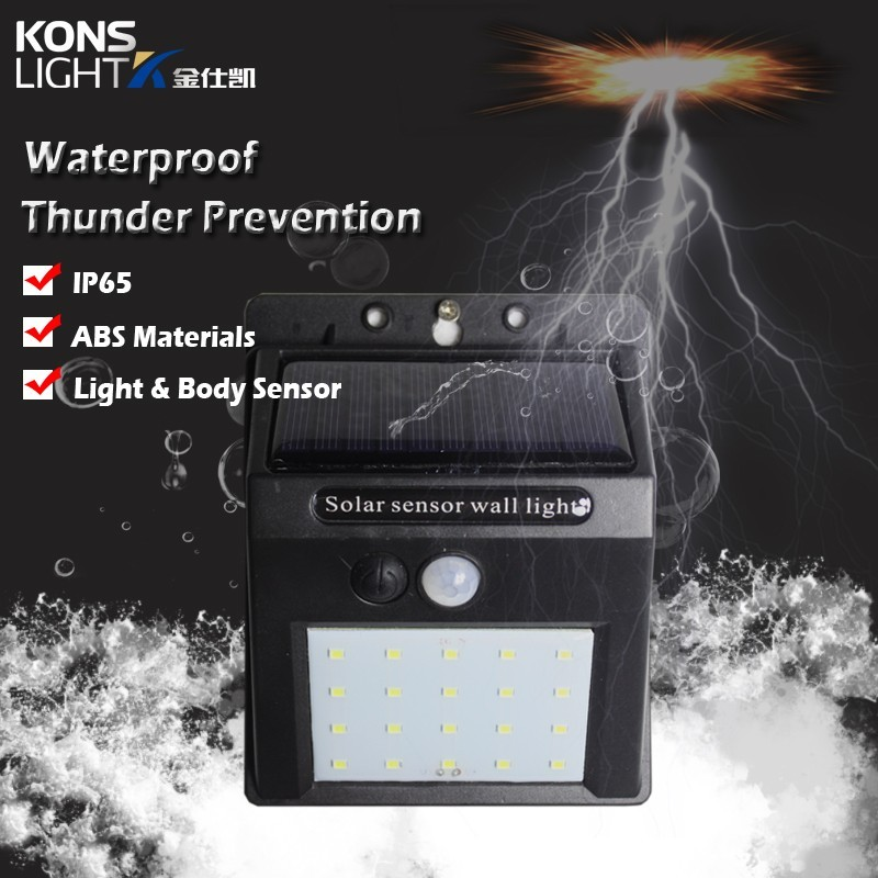 Kons Brand material switch solar wall light manufacture