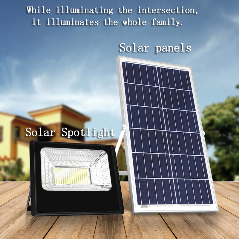 Solar energy lamp outdoor super bright waterproof spotlight household indoor and outdoor new rural lighting spotlight