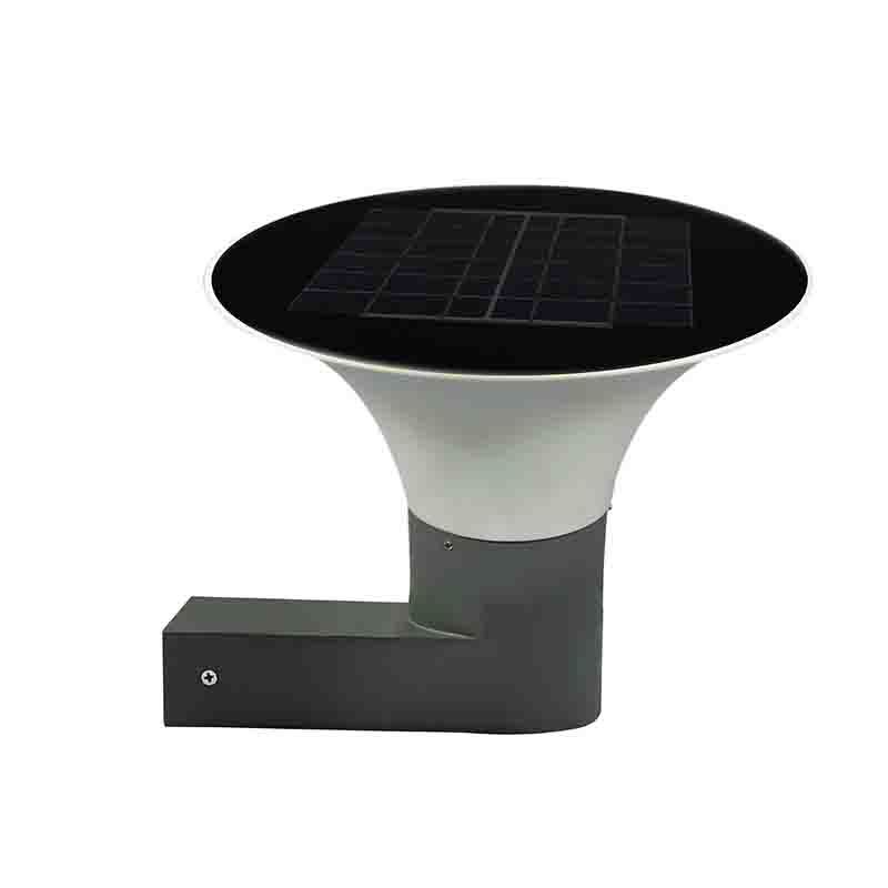 5W LED Solar Wall Light inner switch warm white/white Energy-saving 190mm